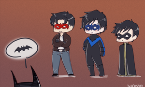 Line up, boys by Meinarch