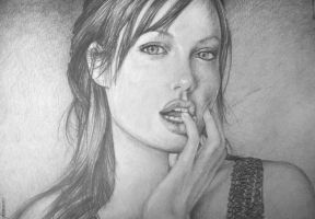 Retrato Angelina Jolie by artegamor