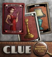 Clue: Miss Scarlet, Hall, Candlestick by IngvardtheTerrible