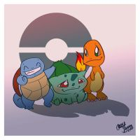Generation One Starters by Chansey123