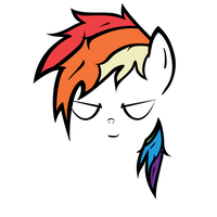 Rainbow Dash Contours without Eye Scar by QQwich