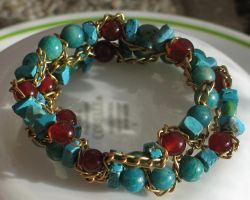 September Hues Bracelet Closeup 3 by Windthin