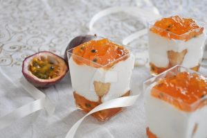 passion fruit and cheese cake cups by TigerQG