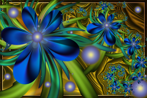 Blooms on Gold by JCCJ756