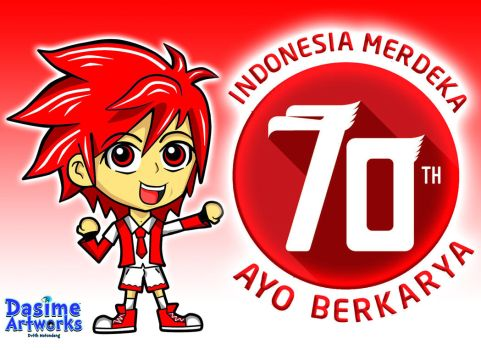 MERDEKA ! INDONESIA INDEPENDENCE DAY 70 ! by DandeLionsz