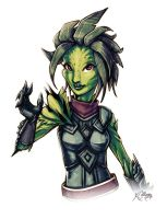 Guild Wars 2 Sylvari by TricksyPixel