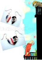 APH - France x Prussia - Half Heart Earrings by Undisclose--Desires