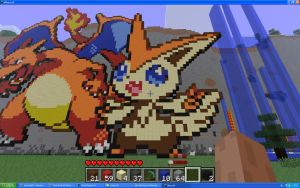 Victini On Minecraft by Miccopicco