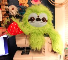 Custom Lime Green Slothtopus by loveandasandwich
