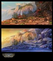 Fatecraft Mountains by TylerEdlinArt