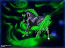 Ghost Horse Manip by jackiehorse