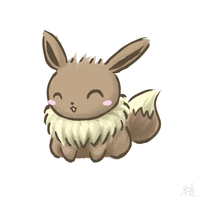 Pokemon - Chibi Eevee by ZephyrXenonymous