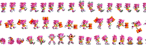 Amy Rose is Sonic 3 and Knuckles sprites by Deitz94