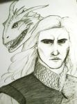 Game of Thrones: Viserys and Viserion by Kashichan823