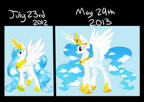 10 Month Pony Improvement by DaPuddingz
