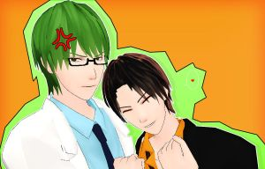 MidoTaka MMD~ by celly-chan