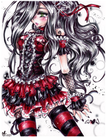 Black, Red n White Commission by tagl
