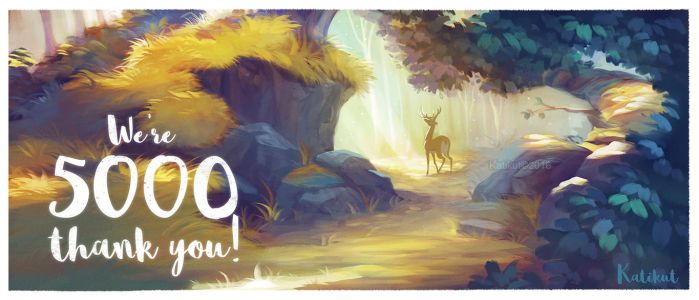 We're 5K on Facebook! Thanks a lot! by Katikut