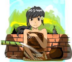 Javanese girl by painofmetalhead