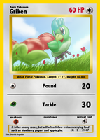 Gricken Pokemon Card by Toughset