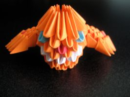 3d origami owl by OrigamiGenius