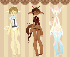 Sweet Anthro Adopts .:Closed:. by Pieology