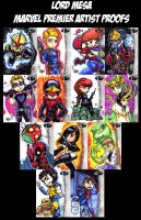 Marvel Premier Cards- Artist Proof Cards by lordmesa