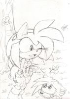 Auntie Amy Rose n' Shaundre:Shadic by Narcotize-Nagini