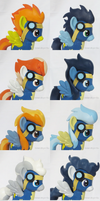 Wonderbolt Customs Headshots by Amandkyo-Su