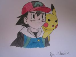 Ash, Pokemon by marshaaxx