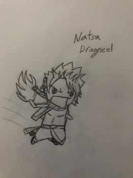 Chibi Natsu Dragneel from Fairy Tail by WhileUrUp