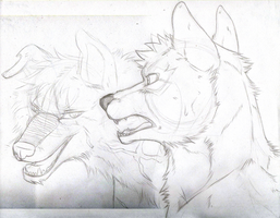 Nick and Larry SKETCH by KasaraWolf