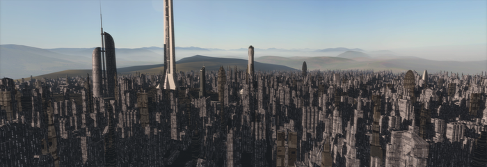 Future City (Draft) by A-WingMaster