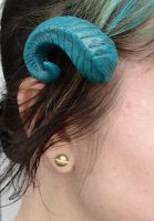 Ram horn cast barrette 2 by missmonster