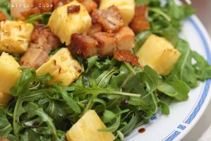 Roasted pork belly and rocket salad by patchow