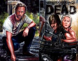 Walking Dead Sketch Cover For Sale by Twynsunz