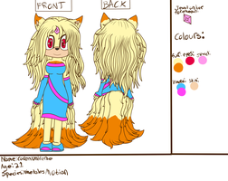 Caren Bailey Universes Ref sheet by Tailmouth-Cupcake