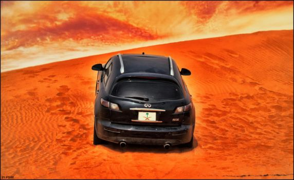 infiniti fx 35 in sand by fahad8702