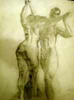 Male and Female Nude study by XavierDiemert