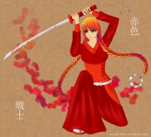 Red Warrior by Sayuki-hime