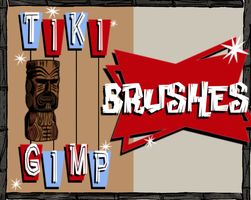 Tiki Gimp Brushes by MaxPowersXx