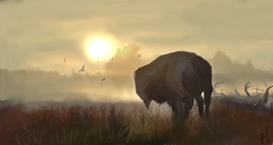 Bison by AngeInk