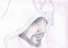 Ezio Auditore Revelations Sketch by poekiepunker