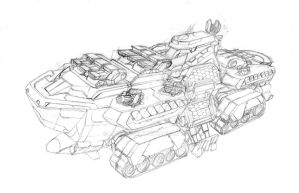 Hybrid Battleship Sketch by Loone-Wolf