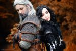 Geralt and Yennefer by KinslayeR13