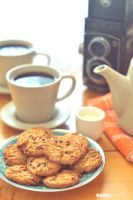 Oatmeal Cookies, Coffee and Hacoflex TLR by daxxbondoc