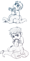 TF2: More baby mike doodles by DarkLitria