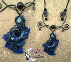 Blue Goldston Spirit Polymer Clay by Nakihra