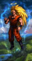 Goku Super Saiyan level 3 by theLateman