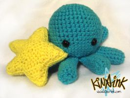 Chibi Octopus and Star Plush by kina